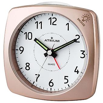 ATRIUM alarm clock Analog quartz rosé metallic A251-17 without ticking with light and snooze