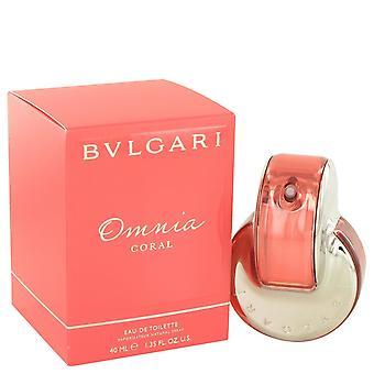 Omnia koraal door Bvlgari Eau De Toilette Spray 1.4 oz/41 ml (vrouwen)