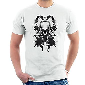 Assassin's Creed Ezio Ink Blot Rorschach Men's T-Shirt