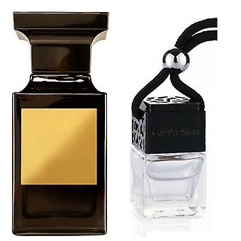 Tom Ford Tuscan Leather For Him Inspired Fragrance 8ml Black Lid Bottle Hanging Car Vehicle Auto Air Freshener