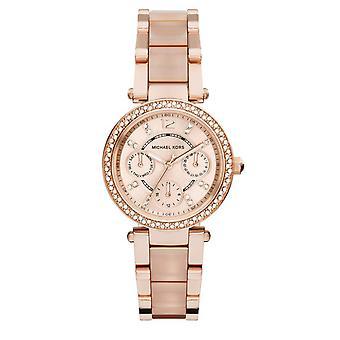 迈克尔·科尔斯女士+阿波斯;迷你派克手表 - MK6110 - 粉红色