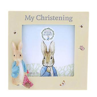 Peter Rabbit Christening Photo Frame Gift in Presentation Box