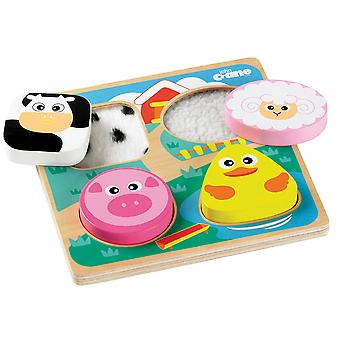 Tidlo Wooden Sensory Touch and Feel Jigsaw Puzzle (Farm)