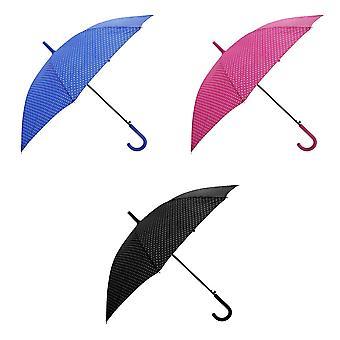 فتح تلقائي النسائي/السيدات بولكا دوت المشي مظلة