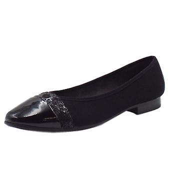 Soft Line 22165 Orpington Wide Fit Ballet Pump en noir