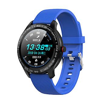 Lokmat Sports Smartwatch Fitness Sport Activity Tracker Smartphone Watch iOS Android IP68 iPhone Samsung Huawei Blue Silicone