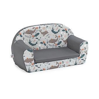 Undersea Grey Kids Children's Sofá de espuma doble Niños asiento silla de niños