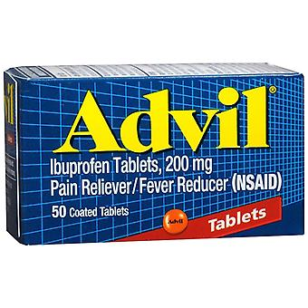Advil pain reliever/fever reducer coated, tablets, 50 ea