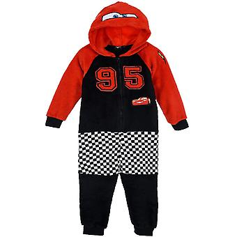 Boys HS2206 Disney Cars Hooded Soft Fleece Sleepsuits / O bucată pijama