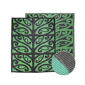 Mangopare New Zealand Design Recycled Mat Black And Green