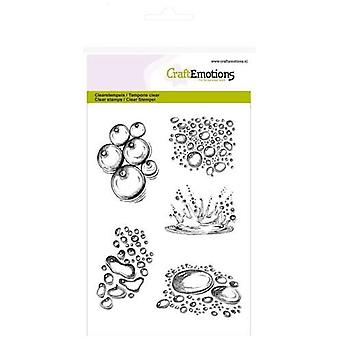 CraftEmotions Clear Stamps A6 - Waterdruppels splash