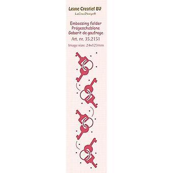 LeCrea الحدود النقش مجلد -- مفاتيح (24x123mm)