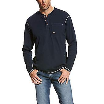 ARIAT الرجال & أبوس؛s كبيرة وطويل القامة ربار جيب طويل الأكمام هينلي، البحرية، حجم XXX-LargeR