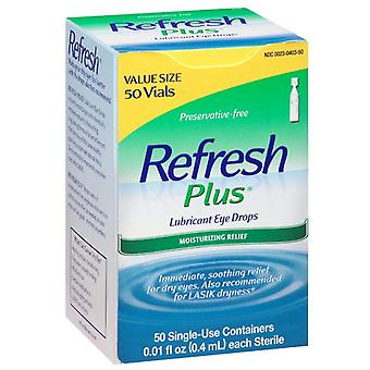 Refresh plus lubricant eye drops, moisturizing relief, single-use, 50 ea