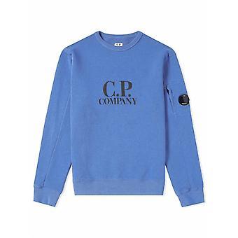 C.P. Company Undersixteen Sky Blue Lens Fleece Sweatshirt