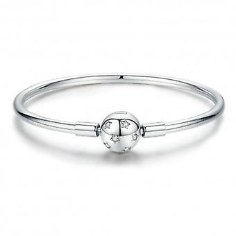 Sterling Silver Bangle Bracelet Stars - 6188