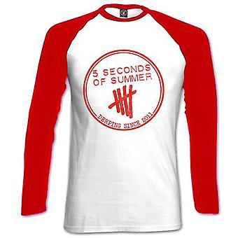 Ladies 5 Seconds of Summer 5SOS Derp Raglan Official Tee T-Shirt