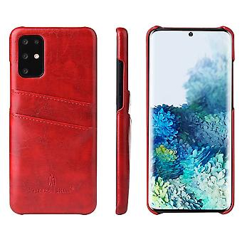 For Samsung Galaxy S20 Case Deluxe Leather Protective Cover Red