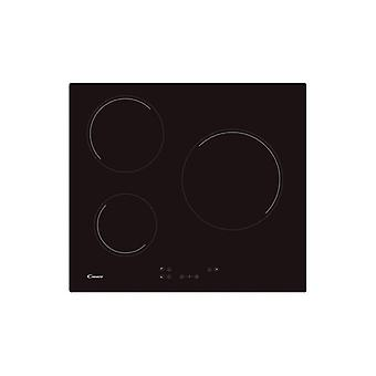 Glass-Ceramic Hob Candy CH63CC 60 cm (3 Zonas de Cocción) Black