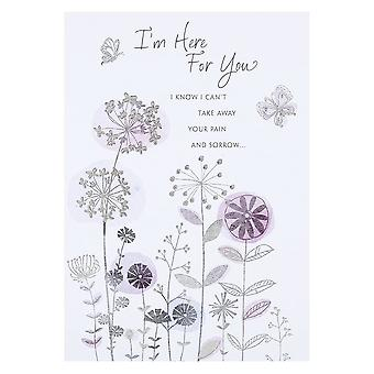 Hallmark Im Here For You Bereavement Love & Sympathy Card 11354963