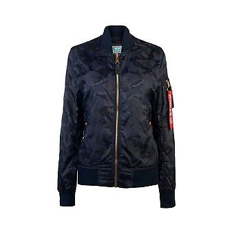 Alpha Industries Ezcr026004 Donne's Giacca Blue Polyester Outerwear