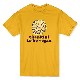 Thankful To Be Vegan Turkey Men's T-shirt