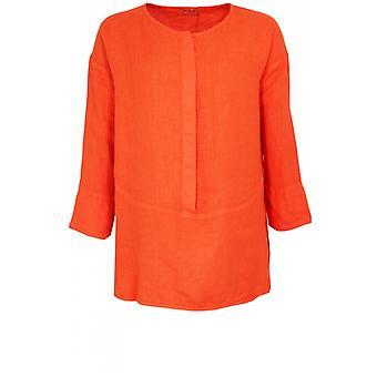 backstage overdimensjonert oransje lin skjorte