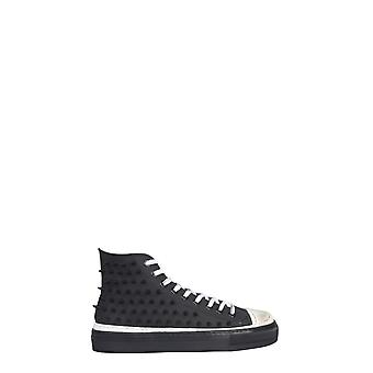 Gienchi Gxualtb999gom0b999 Men's Black Leather Hi Top Sneakers