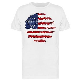 American Flag Cool Round Design Tee Miehet & s -Kuva Shutterstock