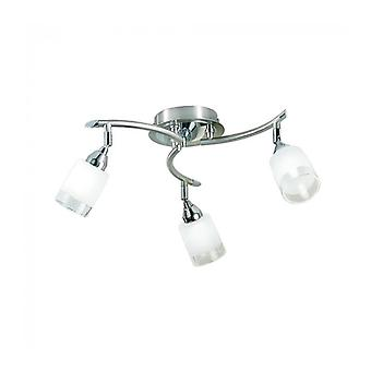 Campani 3-light Chrome / Satin Nickel Ceiling Light