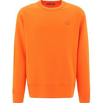 Acne Studios 2hl173darkorange Män's Orange Bomull Sweatshirt