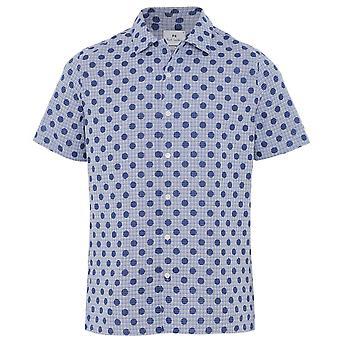 بول سميث عارضة تناسب قصيرة الأكمام طباعة قميص