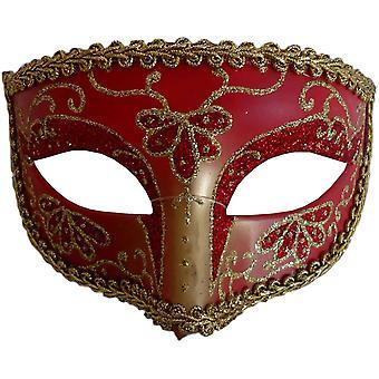 Opéra Eye Mask or rouge pour Masquerade