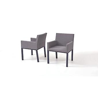 Textilná podložka na stoličku, 2 ks - sivohnedá