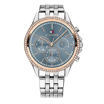 Tommy Hilfiger Watches 1781976 Ari Blue And Silver Stainless Steel Women's Watch
