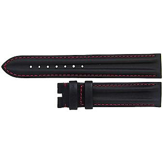 Authentic omega watch strap 18mm black calf leather sports style