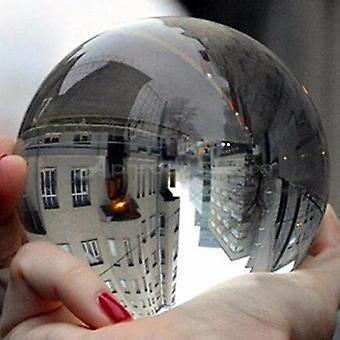 80mm Clear Glass Crystal Ball Healing Sphere Photography Props New Artificial