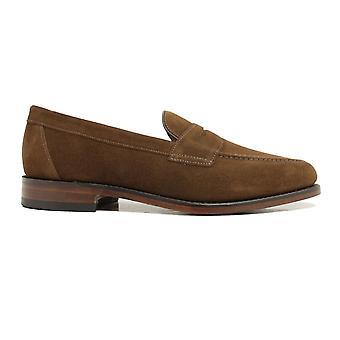 Loake Imperial Brun Mocka Läder Mens Loafer Skor