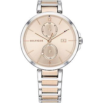 Tommy Hilfiger Watches 1782127 Women's Silver And Rose Gold Stainless Steel Watch