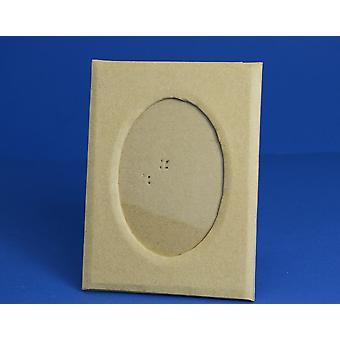 Marco de fotos Mache de papel de 20 cm con apertura ovalada para decorar Papier Mache