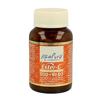 Non-Acidic Vitamin C-500 + Vitamin D3 60 capsules