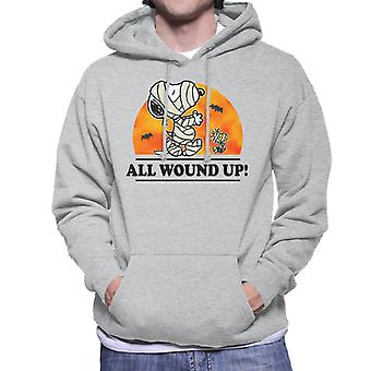 Peanuts All Wound Up Halloween Mummies Men's Hooded Sweatshirt