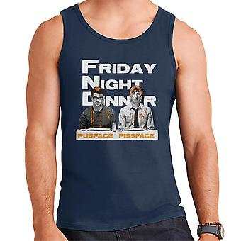Friday Night Dinner Pusface And Pissface Men's Vest