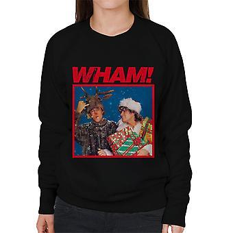 Wham! Christmas Distressed Logo Women's Sweatshirt