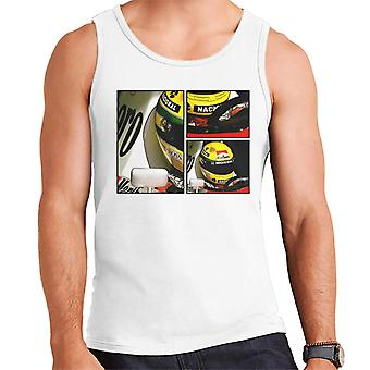 Motorsport kuvia Ayrton Senna McLaren Circuito Estoril runko taide miehet ' s Vest