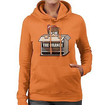 Wheres Wally The Orange Women's Hooded Sweatshirt