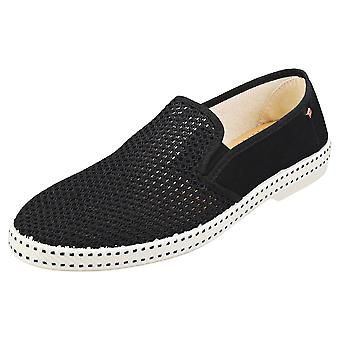 Rivieras Classic 20 Unisex Espadrille Shoes in Black White