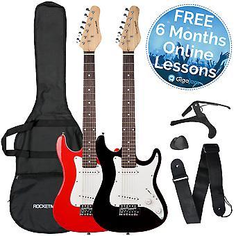 Rocket 3/4 Size Electric Guitar in Black