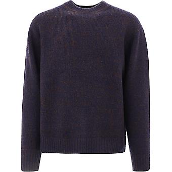 Acne Studios B60151navybrown Men's Blue Wool Sweater