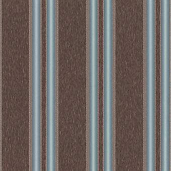 P&S International Traditional Non Woven Decorative Vertical Stripe Faux Fabric Brown Wallpaper